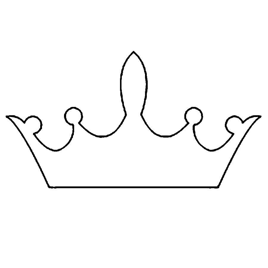 Раскраска  Корона  корона шаблон для детей, корона для вырезки из бумаги. Скачать Шаблон.  Распечатать Шаблон