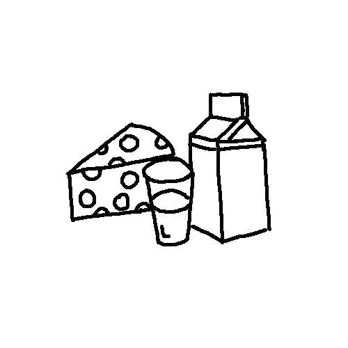 """Раскраска  """"продукты питания"""" молоко с сылом. Скачать продукты.  Распечатать продукты"""