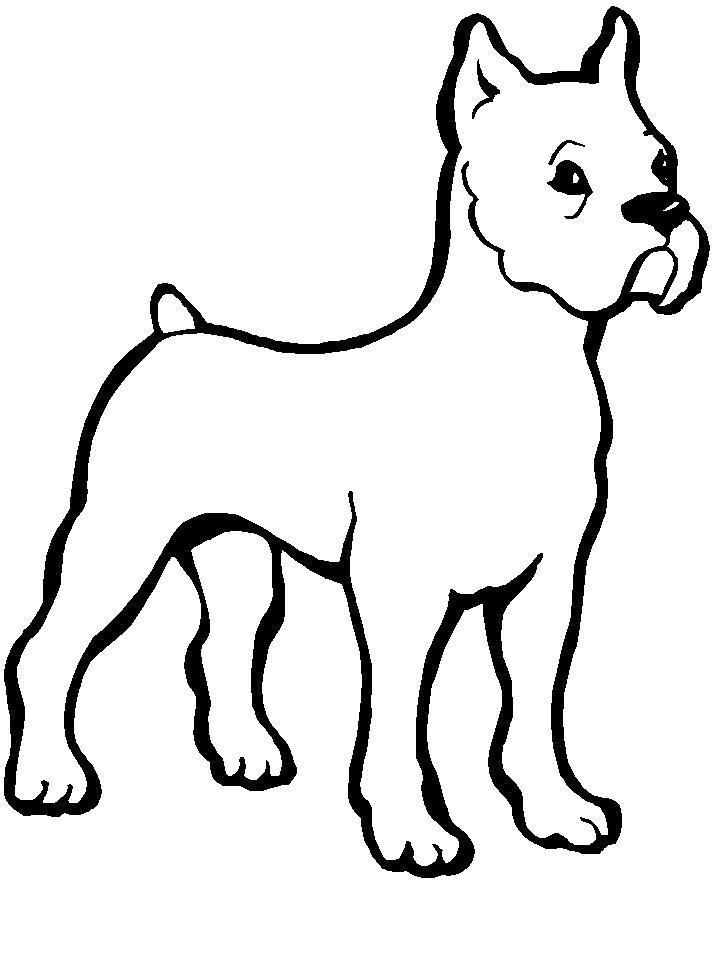 Раскраска Собачка. Скачать Щенок, Собака.  Распечатать Домашние животные