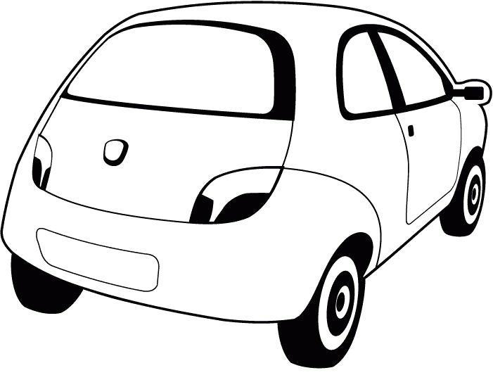 Раскраска Картинка-разукрашка ford ka. Скачать Машины.  Распечатать Машины