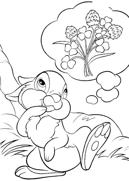 Раскраска заяц и лакомство. Скачать Заяц.  Распечатать Дикие животные
