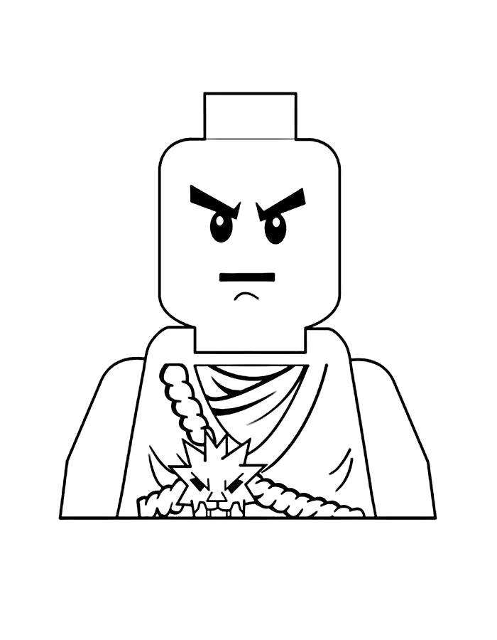 Раскраска  Лего ниндзяго. Скачать Лего.  Распечатать Лего