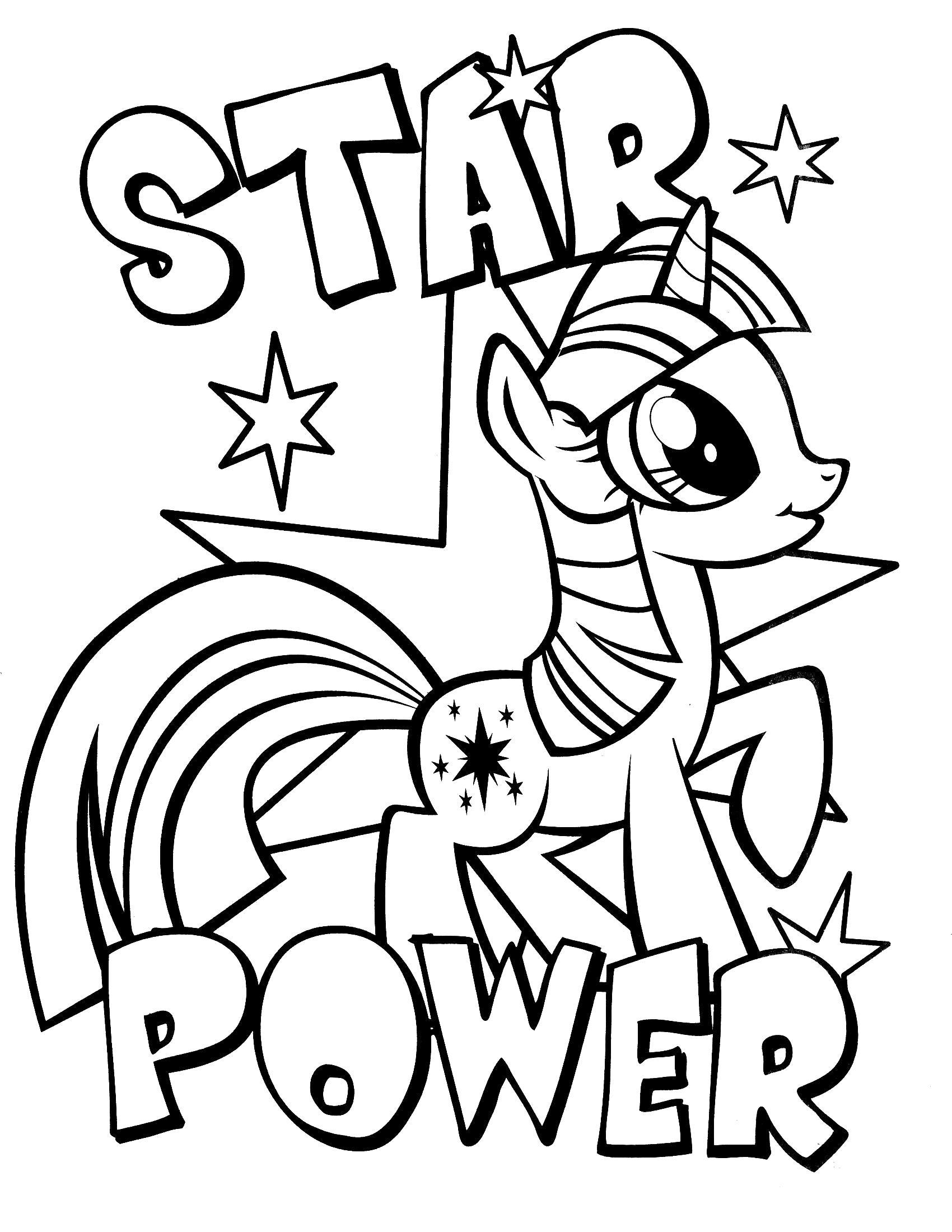 Раскраска Магия Сумеречной Искорки. Скачать пони.  Распечатать пони