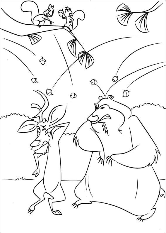 """Раскраска Детские  -  из мультфильма """"Сезон охоты"""". Скачать Сезон охоты.  Распечатать Сезон охоты"""