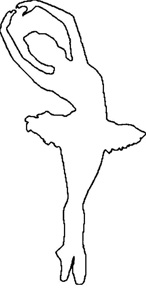 Раскраска  шаблоны балерин балерина трафарет для вырезания из бумаги. Скачать Шаблон.  Распечатать Шаблон