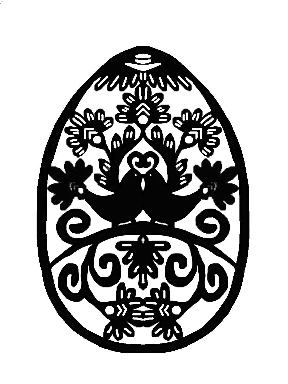Раскраска Пасхальное яйцо. Скачать .  Распечатать