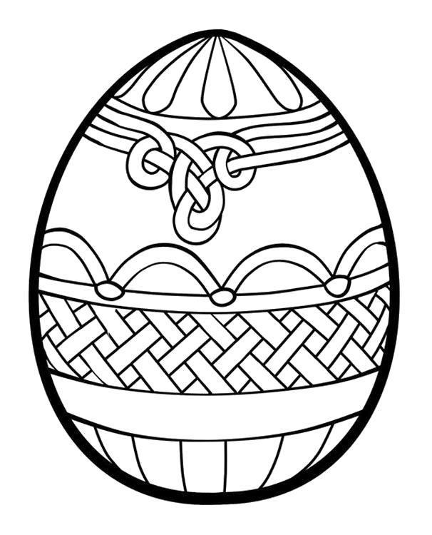 Раскраска Яйцо в узорчиках. Скачать .  Распечатать