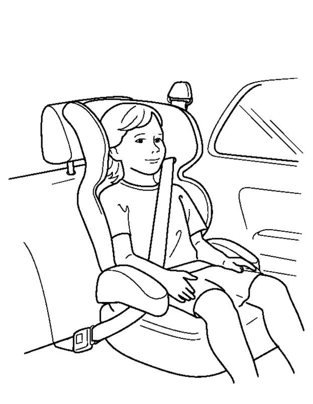 Раскраска Правила безопасности. Скачать Правила дорожного движения.  Распечатать Правила дорожного движения