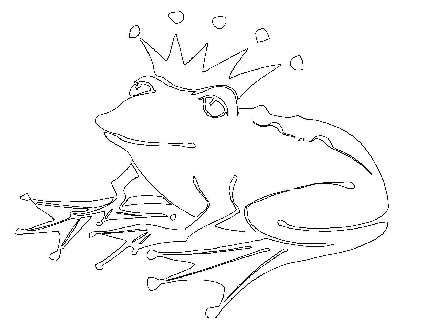 Раскраска  лягушка. Скачать лягушка.  Распечатать лягушка