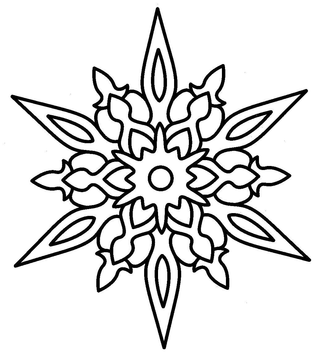 Раскраска  снежинка контур для вырезания снежинки в готическом стиле. Скачать Снежинки.  Распечатать Новый год