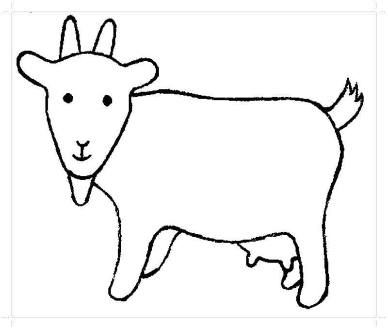 Раскраска Коза . Скачать Коза.  Распечатать Домашние животные