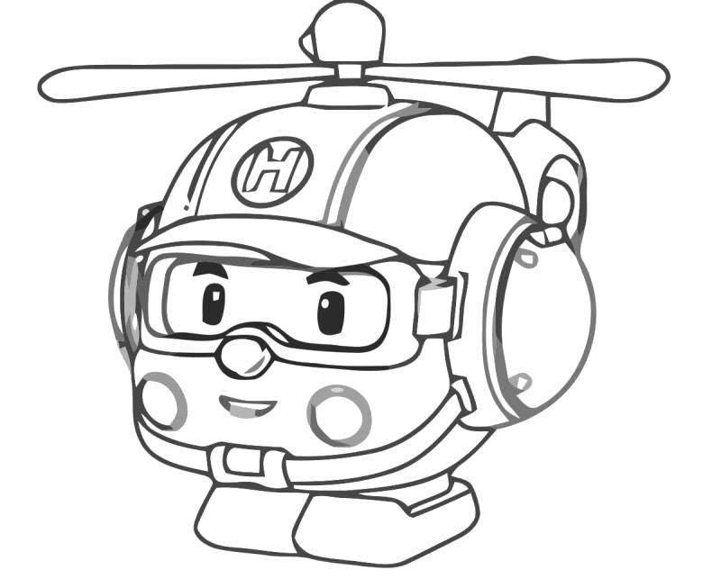Раскраска Вертолёт. Скачать .  Распечатать