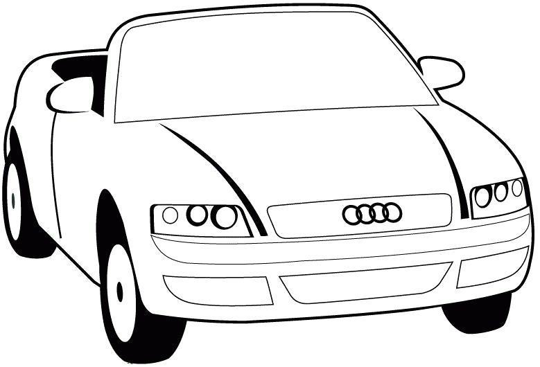 Название: Раскраска Audi картинка для раскраски. Категория: Машины. Теги: Машины.