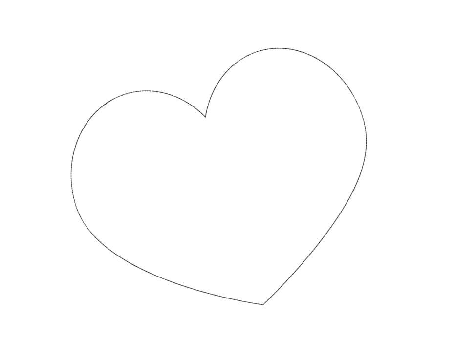 Раскраска Сердце картинки контур. Скачать сердце.  Распечатать сердце