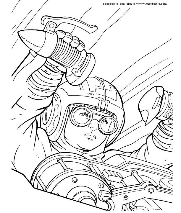 Раскраска  Эникен Скайвокер. . Скачать Звездные войны.  Распечатать Звездные войны
