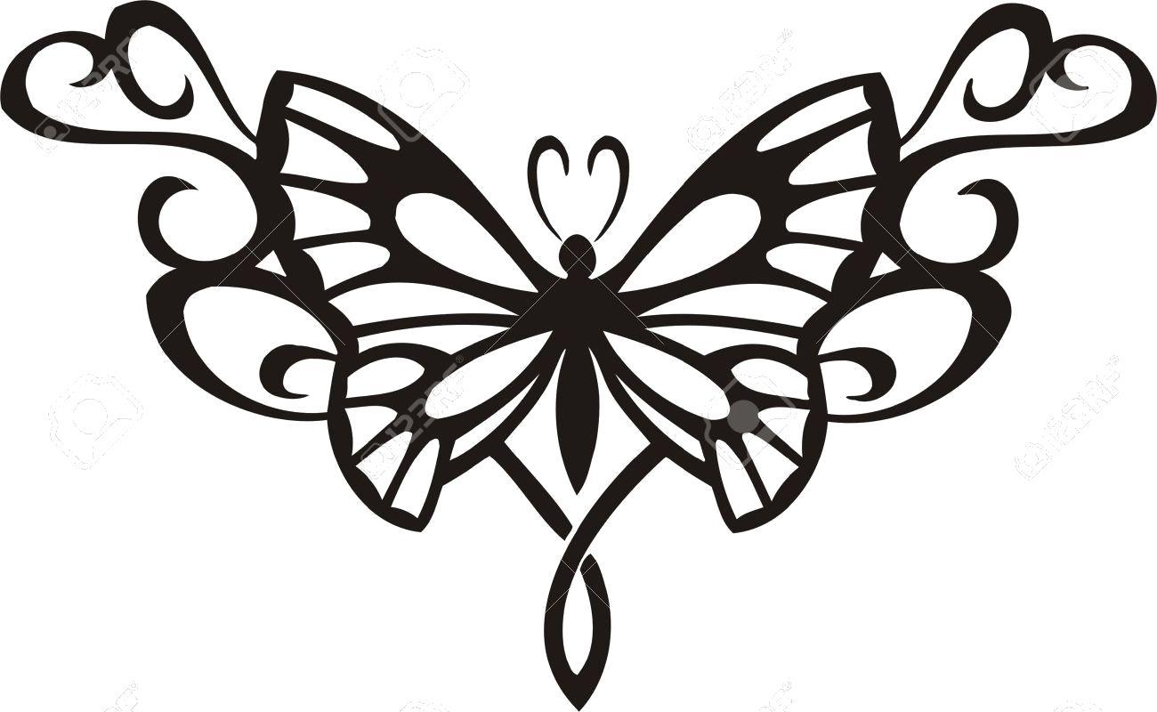 Раскраска картинки бабочек для вырезания. Скачать .  Распечатать