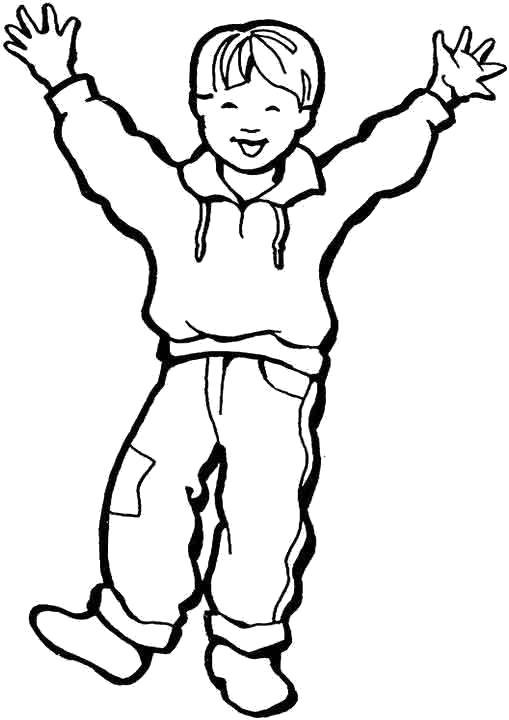 Раскраска Счастливый ребёнок. Скачать .  Распечатать