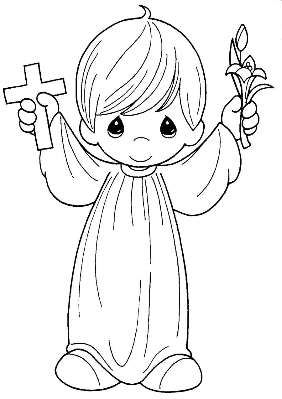 Раскраска Ангел Крещения. Скачать ангел.  Распечатать ангел