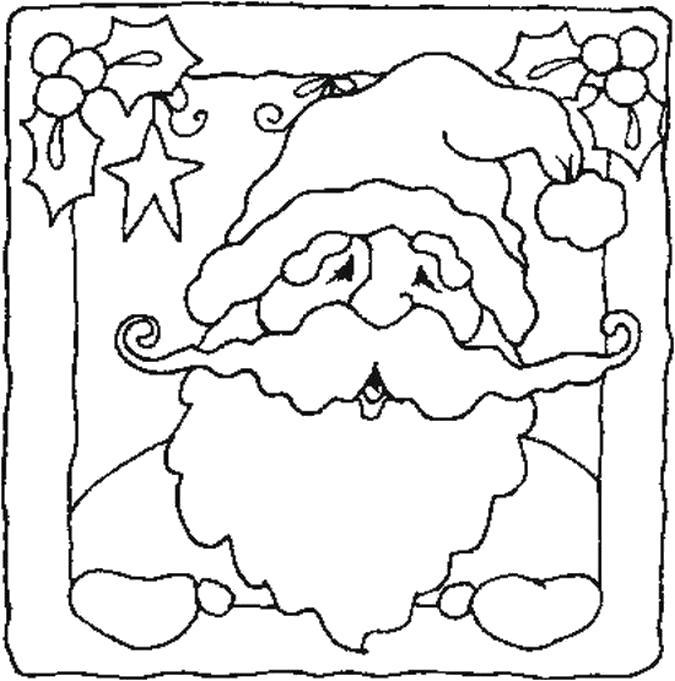 Раскраска Открытка с дедом морозом. Скачать .  Распечатать
