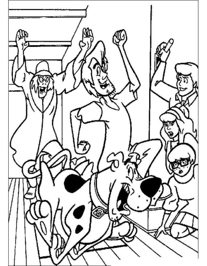 Раскраска Команда Скуби Ду. Скачать .  Распечатать