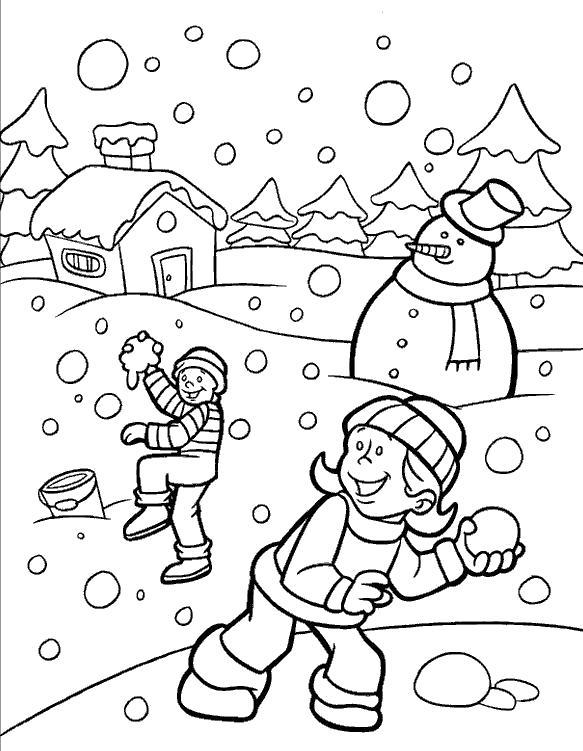 Раскраска Зимние игры. Скачать .  Распечатать