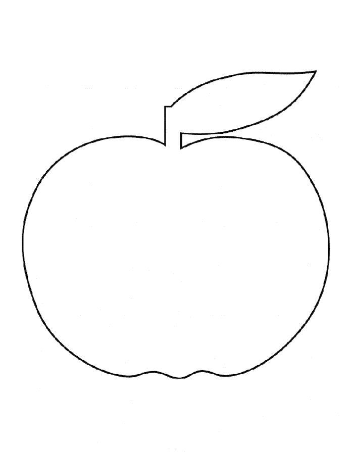 Название: Раскраска Раскраска яблоко ребенку. Категория: Фрукты. Теги: яблоко.
