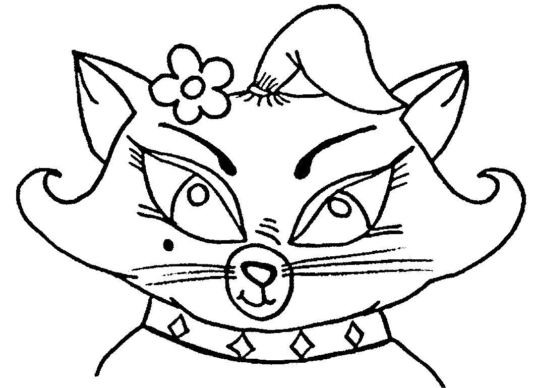 Раскраска  Кошка Мурка собирается в гости. Скачать .  Распечатать