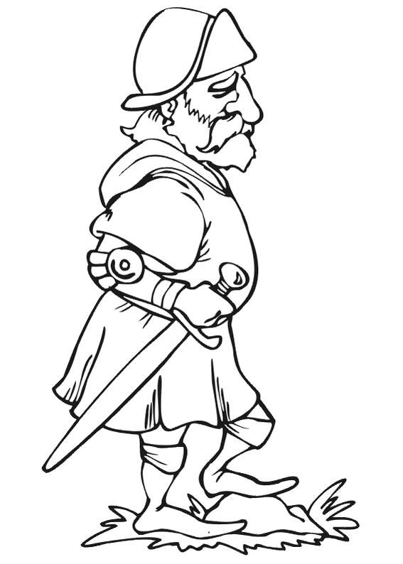 Раскраска Доблестный рыцарь. Скачать Рыцарь.  Распечатать Рыцарь
