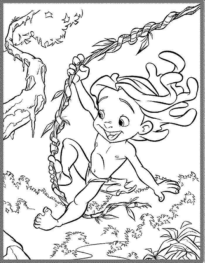 Раскраска Маленькая Принцесса зверей. Скачать .  Распечатать