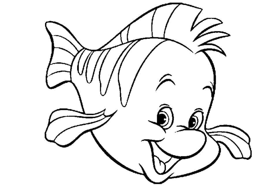 Раскраска золотая рыбка - картинки для . Скачать рыба.  Распечатать Рыбы