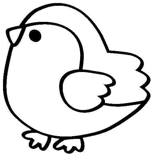 Раскраска Пухлый птенец. Скачать .  Распечатать