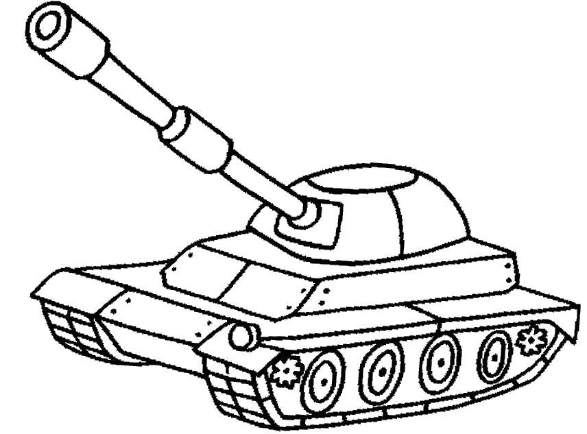 Раскраска танк. Скачать .  Распечатать