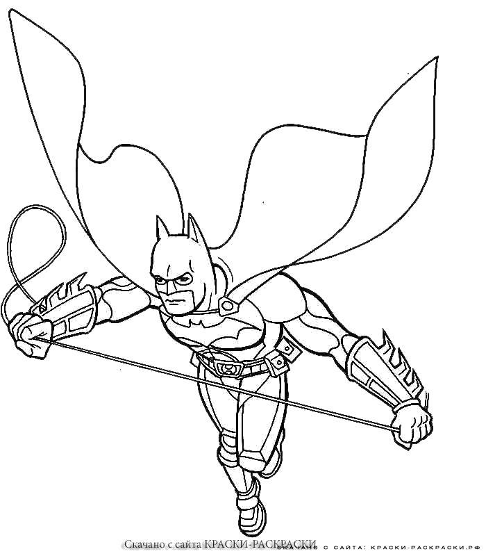Раскраска  - бэтмен. Скачать Бэтмен.  Распечатать Бэтмен