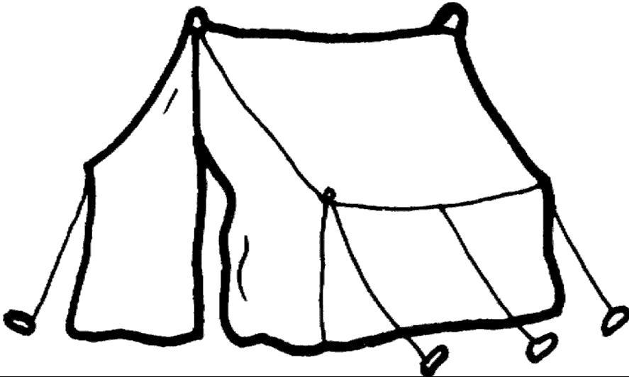 Раскраска Палатка. Скачать .  Распечатать