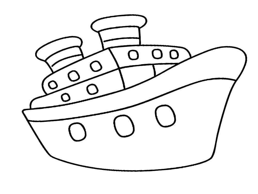 Раскраска Лайнер. Скачать корабли.  Распечатать корабли