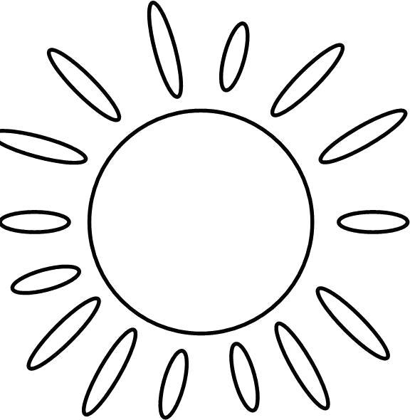 Раскраска Солнышко. Скачать Солнышко.  Распечатать Солнышко