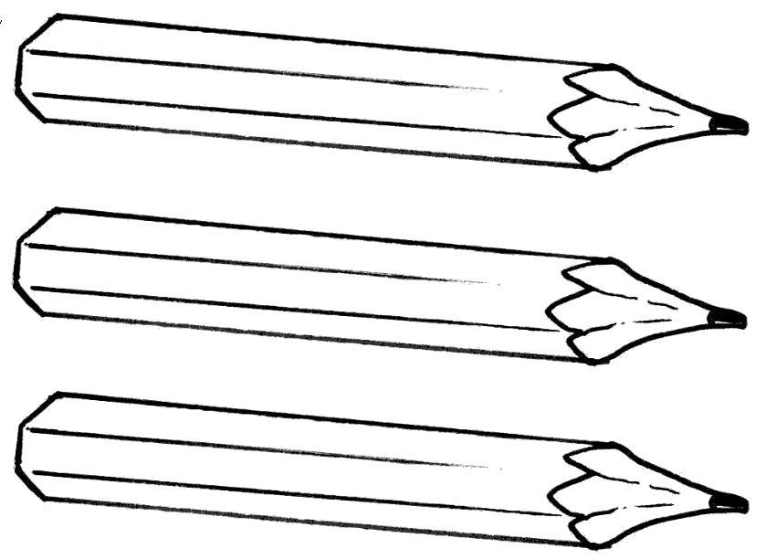 Раскраска Острые карандаши. Скачать Карандаш.  Распечатать Карандаш