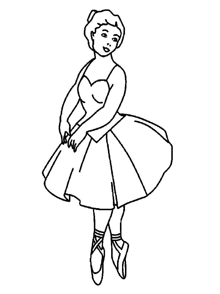 Раскраска Детские  профессии, танцы, балерина . Скачать Профессии.  Распечатать Профессии
