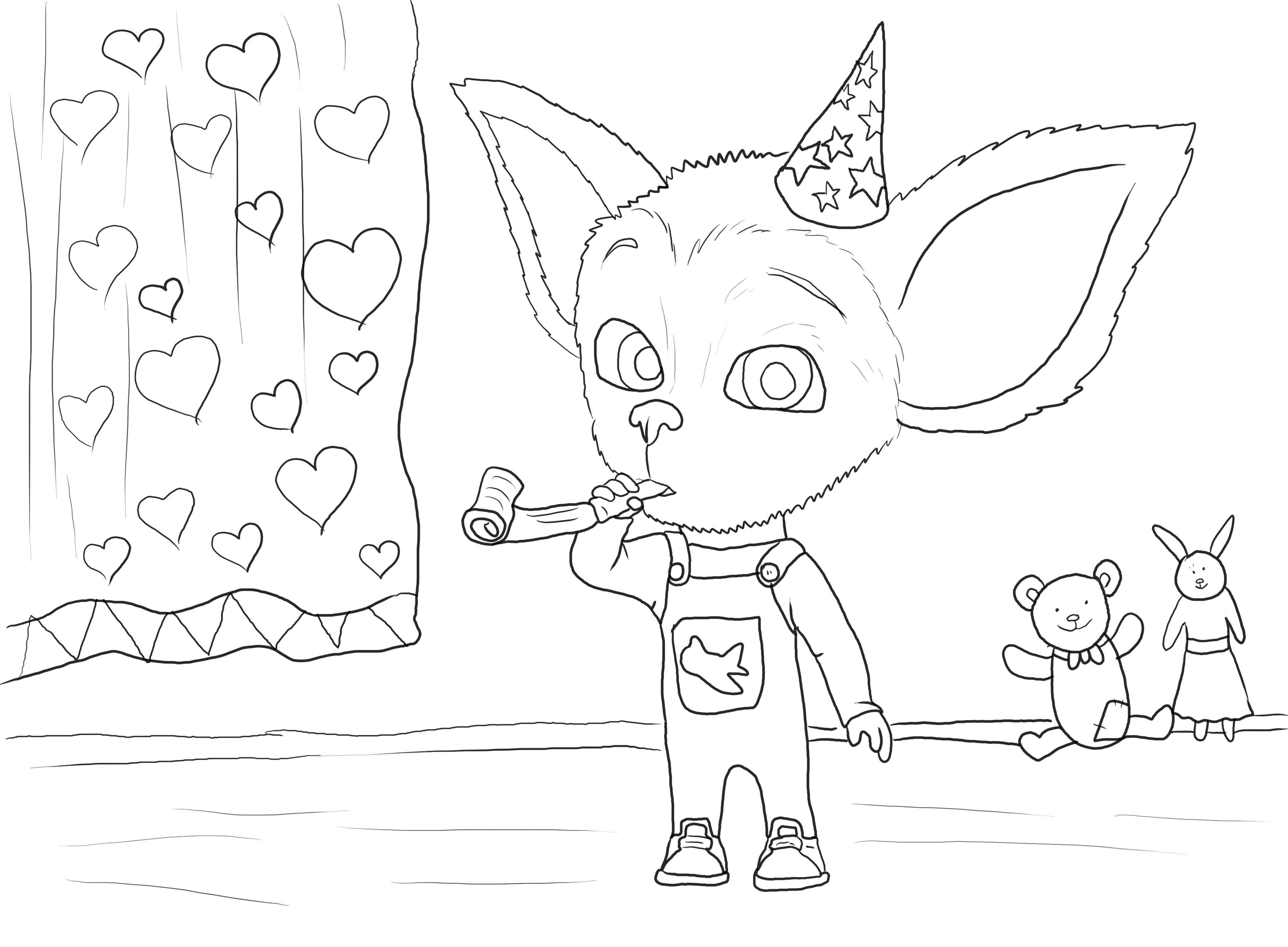 Раскраска Малыш Барбоскин, Малыш отмечает праздник. Скачать Барбоскины.  Распечатать Барбоскины