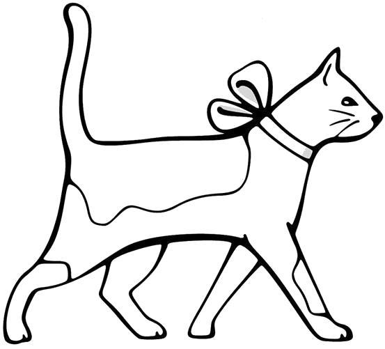Раскраска кошка . Скачать кошка.  Распечатать Домашние животные