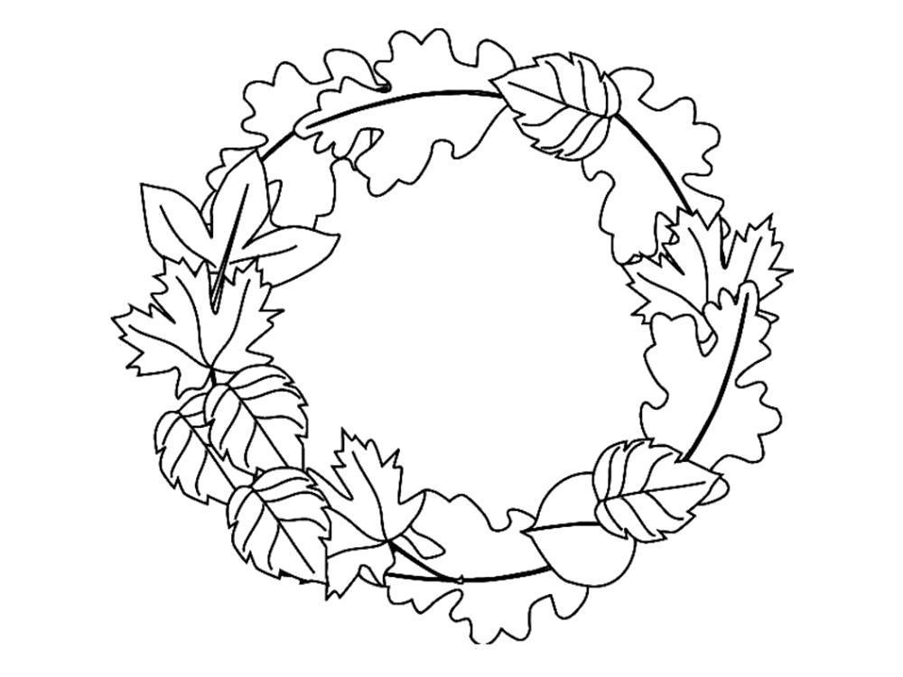 Раскраска  Осенние Листья . Скачать листья.  Распечатать листья