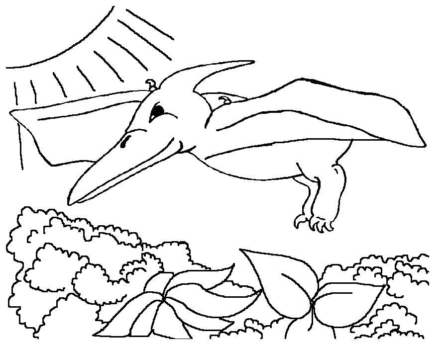 Раскраска Птеранодон. Скачать динозавр.  Распечатать динозавр