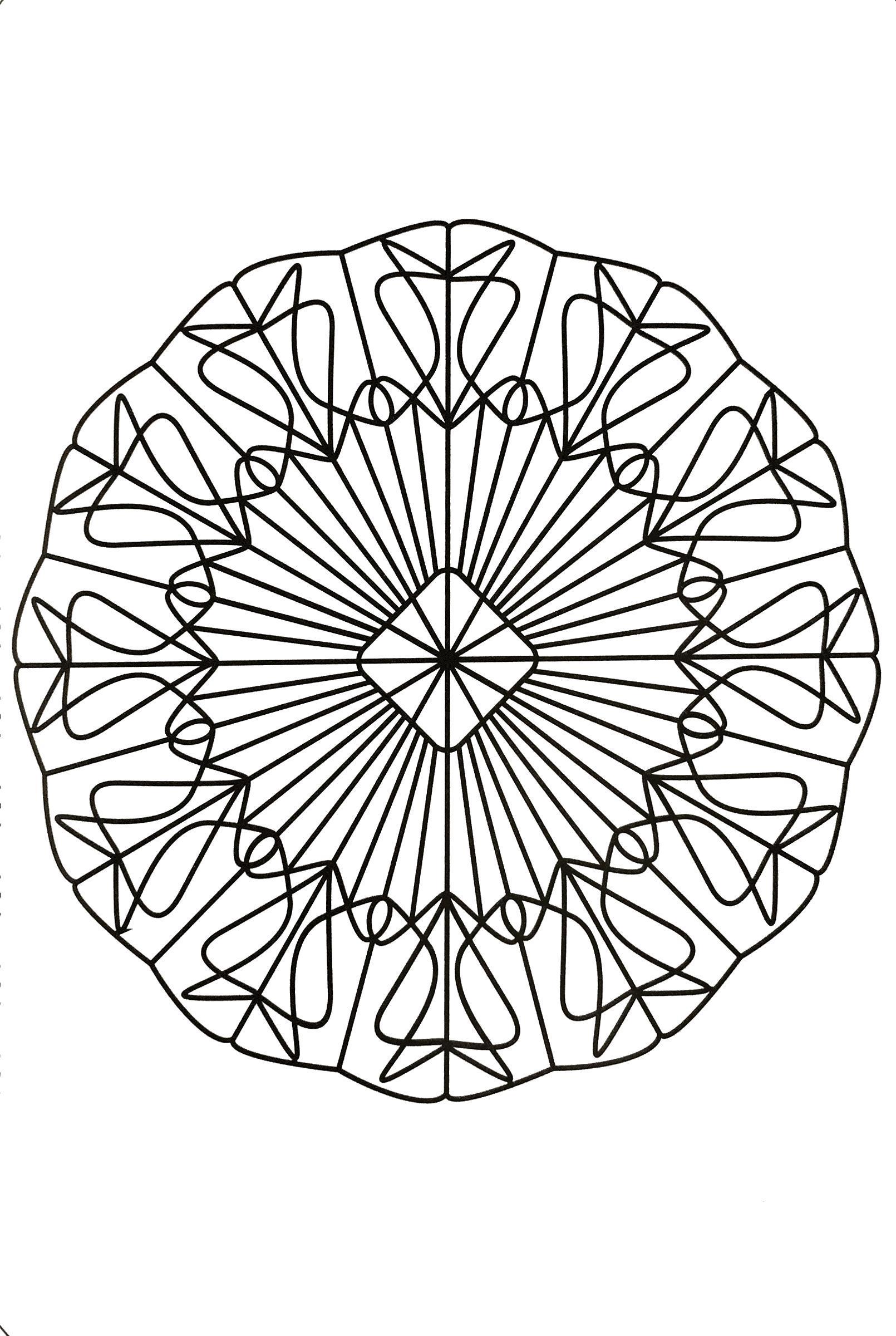 Раскраска Геометрическая мандала. Скачать .  Распечатать