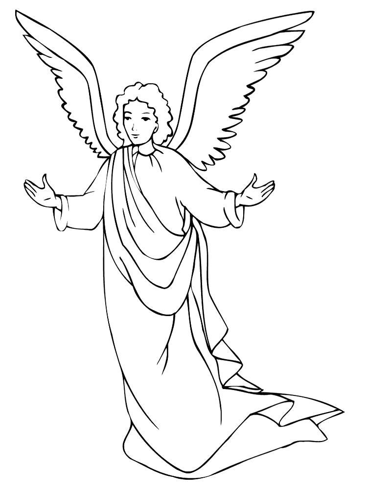Раскраска Девочкам и мальчикам понравится раскрашивать ангелочков, а картинки качайте у нас. Скачать ангел.  Распечатать мифические существа