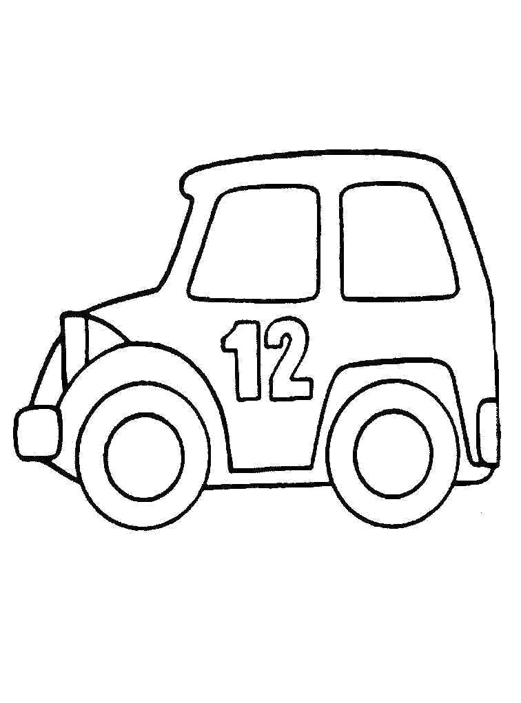 Раскраска Машина. Скачать Транспорт.  Распечатать Транспорт