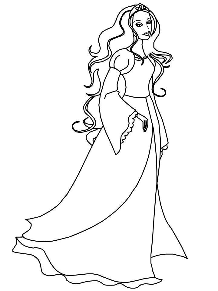 Раскраска ирландская принцесса. Скачать принцесса.  Распечатать принцесса