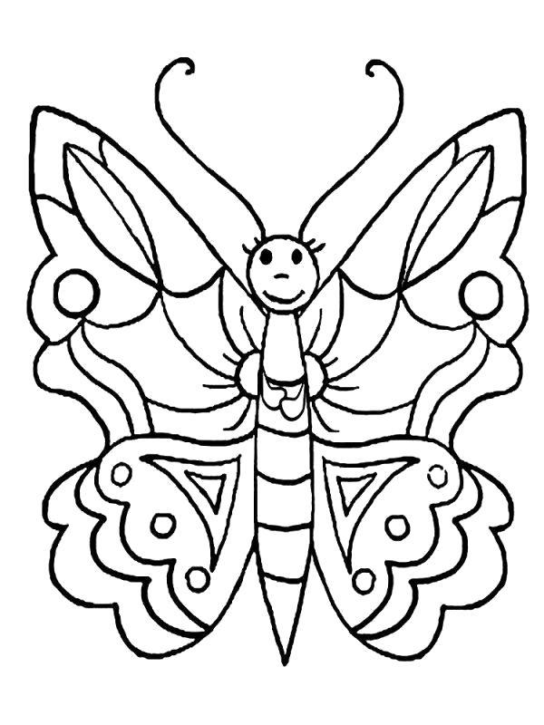 Название: Раскраска Красавица. Категория: бабочки. Теги: бабочки.