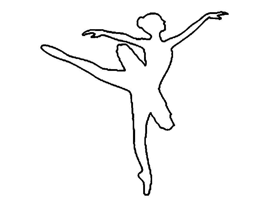Раскраска  шаблоны балерин балерина выкройка для вырезания из бумаги. Скачать Шаблон.  Распечатать Шаблон