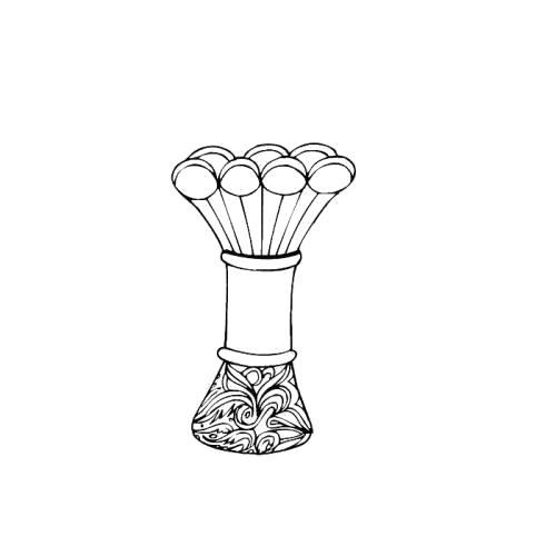 Раскраска стеклянная ваза. Скачать Ваза.  Распечатать Ваза