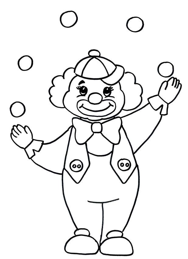 Раскраска Милашка клоун. Скачать клоун.  Распечатать клоун